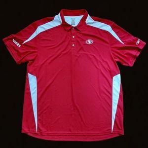 🔥Reebok San Francisco 49ers Play Dry Polo Shirt🔥